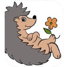 Image result for cartoon illustration of smiling hedgehog
