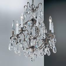 classic lighting versailles 4 light antique bronze crystal chandelier