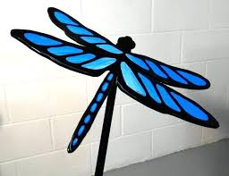 dragonfly garden stakes. Dragonflies Garden Ornaments Metal Dragonfly Lawn And Stake Blue Art Ornament . Stakes