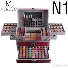 2018 high quality miss rose makeup set professional cosmetic case makeup kit eye shadow blush mirror concealer case suitcases free shiping canada 2019 from