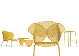 view in gallery organic shaped sunny colored outdoor furniture by aredeclic