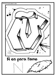 fun to color graffiti letters to help kids learn the spanish alphabet learn to draw graffiti