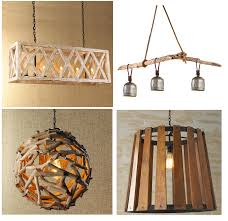 5 light wood lattice island chandelier 2 rustic reclaimed driftwood cowbell chandelier 3 driftwood ball pendant light 4 rustic open barrel wood pendant