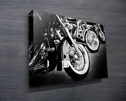 row of bikes on motorbike wall art australia with row of bikes canvas prints australia