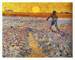sower at sunset vincent van gogh 1888 fine art