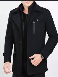 black fleece warm jacket coat for mens by mardaz