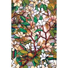 stained glass appliques window film in x in magnolia decorative window film  13 magnolia decorative window