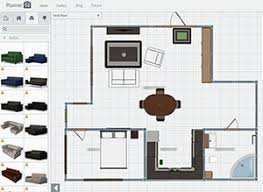 Interior design software for living room with furniture
