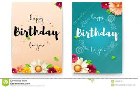 Set Of Happy Birthday Floral Posters With Lettering Design