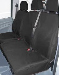ford transit fully tailored van seat covers in black