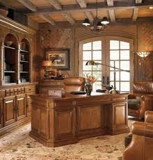 traditional home office design. Traditional Home Office Design With Wooden Ceiling And Furniture