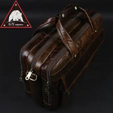 ซ อท ไหน anaph full grain leather men s briefcases doents office bags for men 15 inch laptop bag large capacity high quality brown ในประเทศไทย