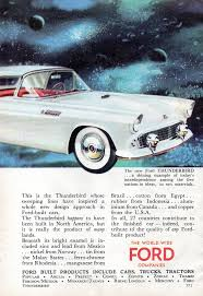 World 2 Magazine Wide Page Ford 1955 Thunderbird Aussie Original AdFxgnv
