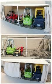 Needs to be a little taller for big kid bikes DIY Covered Kiddie Car  Parking Garage