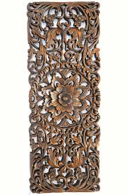 stunning fl tropical carved wood wall panel asian art home decor image of popular and decorations