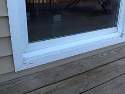 leaking sliding glass door