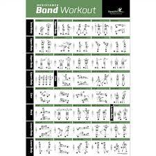 Fitness Program Chart Buy Resistance Band Tube Exercise Poster Now Laminated