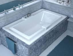 venzi celio 46 x 78 endless flow soaking bathtub with center drain by atlantis