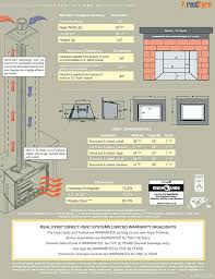 in wall gas fireplaces vented r h real direct vent gas fireplace venting and installation specifications wall