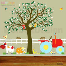 farm wall decals tractor