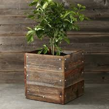 reclaimed wood planter easy pieces square wooden garden planters wooden square planter box diy reclaimed wood