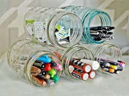 diy office organization 1 diy home office.  Home 1 Stack Mason Jars With Diy Office Organization 1 Home I