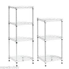 wire shelving rack 3 of metal 3 tier corner wire shelving rack cart layer unit shelf