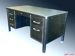 vintage metal office furniture. Vintage Metal Desk Office Furniture Steel Amazing Enchanting L