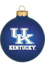 UK Kentucky Glass Ornament   University of Kentucky