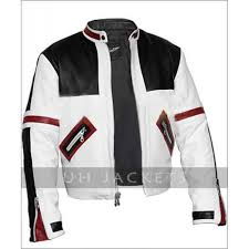 chaser box black and white er leather jacket