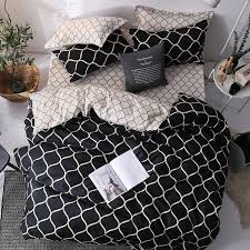 <b>Minimalist Nordic Style</b> Simple Lines Printed Bedding Sets ...