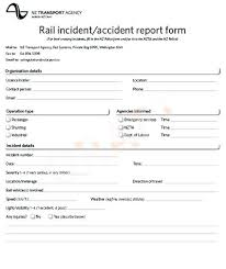 Incident Report Templates Doc Reports Template Accident Form