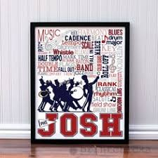 band marching band personalized print