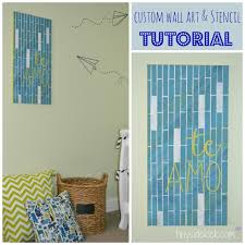diy custom wall art tutorial includes how to make your own stencil which means you on creating my own wall art with diy wall art nursery art custom stencil tutorial