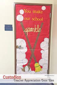cool door decorating ideas. Cool Custodian Or Janitor Door Decorating Idea Featured With 21 Teacher Appreciation Ideas! { Ideas