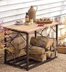 Under Table Firewood Storage Ideas