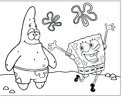 Sponge Bob Coloring Page Spy Coloring Page Patrick Star From