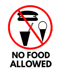 Free Sign No Food Sign Free Flyer Template Postermywall