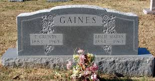 Lillie Gertrude Marrs Gaines (1884-1963) - Find A Grave Memorial