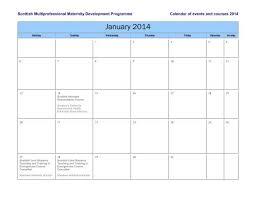 2013 Course Calendar Scottish Maternity
