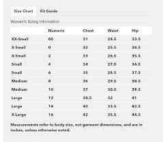 Patagonia Size Chart Women S Grand Circle Shop