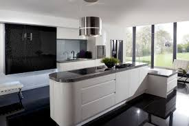 Blue White Kitchen Modern Interior Design House Architecture Stock Latest Kitchen Interior Designs