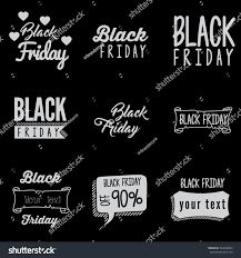Typography Design Template Black Friday Typography Design Template Stock Vector