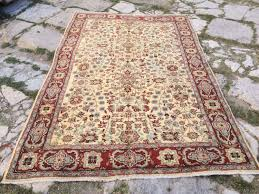 vintage turkish handmade rug area rug neutral color rug muted color rug