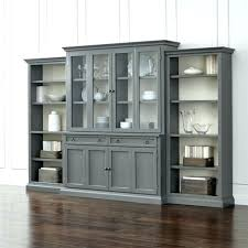tall bookcase with glass doors cameo 4 piece grey door wall unit open bookcases black bookshelf