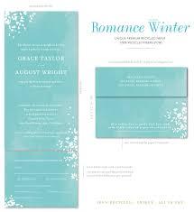Seal And Send Wedding Invitations Romance Winter Wonderland By