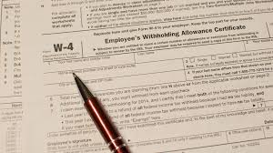 Form W 4 Information For Employers