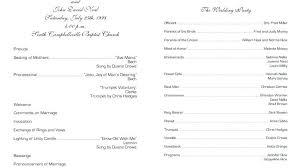 Wedding Reception Program Template Christian Templates