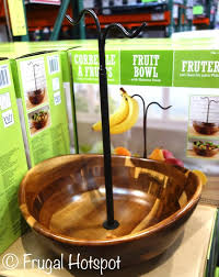 costco acacia wood fruit bowl with banana hook 24 99