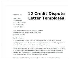 Credit Dispute Letter Templates Credit Dispute Letter Template Threeroses Us